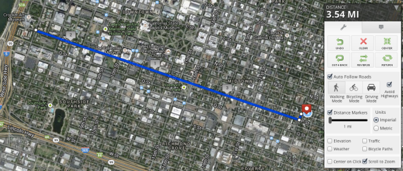 p street to crocker and back