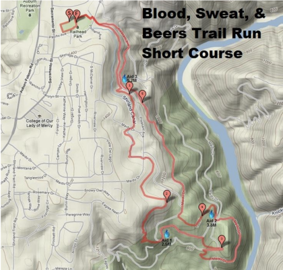 blood sweat beers short course route